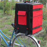 PK-42B:Heat Insulated Food Delivery Box for Bicycle, Backpack for Hot and Cold with 2 Different Partitions